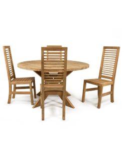 Rundt spisebord af teak 2